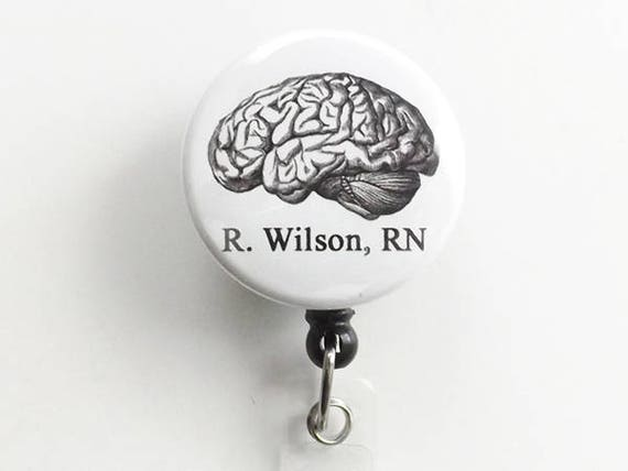 Personalized Anatomy Retractable ID Badge holder reel medical office gift doctor nurse physician assistant teacher custom goth md rn pa np