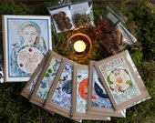 Imbolc Blessings Bundle, altar card, incense and greetings cards