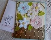 Birthday Wishes, celebrate the day, birthday card, light purple, handmade, balsampondsdesign, flower power, basket of flowers