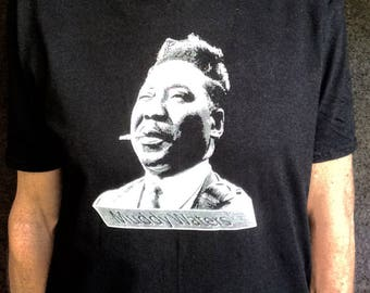 Muddy Waters on a Nice Black T shirt