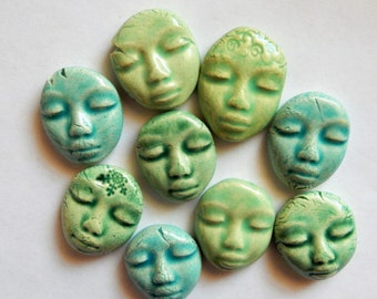 9 faces...light blue and light green