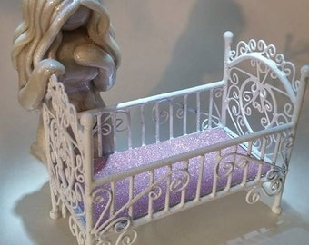 The Empty Cradle - memorial gift for pregnancy and infant loss or infertility - grieving mother sculpture - made to order