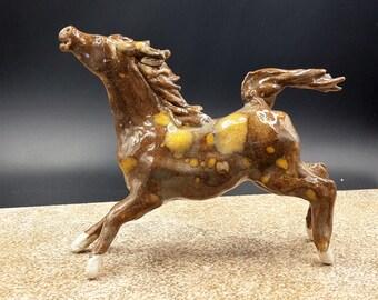 wind's heart horse - flying porcelain horse - original art