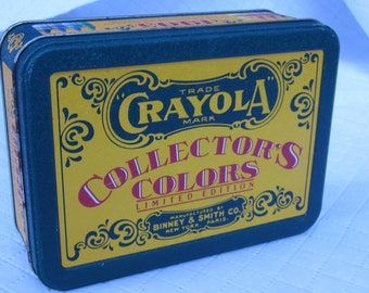 1990 Unused Box Crayola Crayons in Collectable Tin