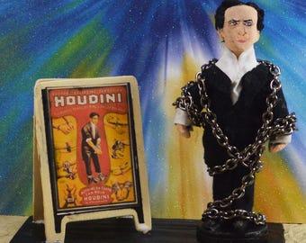 Harry Houdini Doll Miniature Mini Diorama Escape Artist Historical Art Collectible