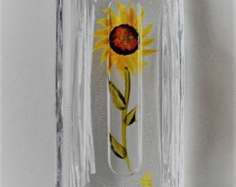 Butter Dish Sunflower Butter Dish Hand Painted Sunflower Butter Dish Butter Keeper