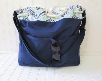 Beach Bag - Beach Bags -  Nautical Beach Bag - Waterproof Beach Bag - Beach Totes - Beach Tote Bag