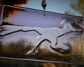 Roadrunner Suncatcher Purple Glass