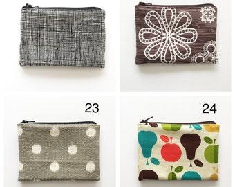 Little Zipper Pouches - Choose Your Fabric