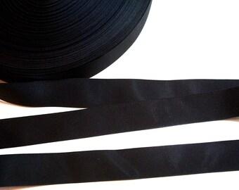 Black Ribbon, Black Grosgrain Ribbon 1 inch wide x 10 yards, Nylon Ribbon