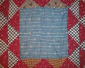 Vintage Quilt Piece | Antique Quilt Piece | Cutter Quilt Piece | 13.5 x 13.5 Piece of Old Quilt