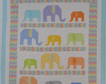 elephant quilt - made to order