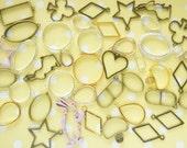 10 pcs Assorted  Open Bezel Charms  () AZ356