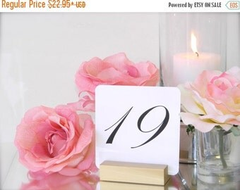 15% off ends Sun. at 5pm Table Number Holder + Gold Table Number Holder + Gold Wedding Table Number Holders