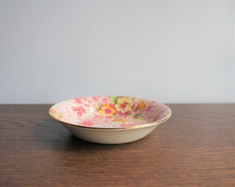 Vintage porcelain chintz bowl, made in England, Royal Winton, Dorset