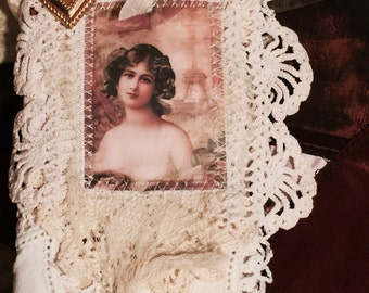 Needle book, needle case, Shabby Chic Parisian Beauty