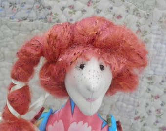 Doll, toy, soft toy, handmade, one of a kind, whimsical, funny, fun