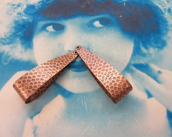 Copper Ox Hammered Retro Style Hoops 2261COP x2