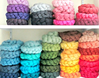 FREE SHIPPING: Merino Wool  Braids for Spinning, Felting, Photography Props