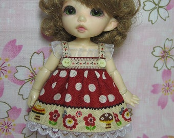 Dots on Red Dress for Pukifee / Lati Yellow