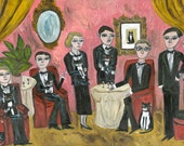 Tuxedo Club.  Limited edition print of an original oil painting by Vivienne Strauss