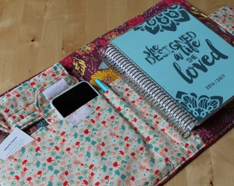 Desktop Travel Note Planner Book Spiral Notebook File Folder Organizer Folder Made to Order Fits Erin Condren Life Planner