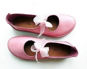 UK 7 Luna Lovegood Fairytale Shoe, barefoot comfort #3280 scumble rosie pink