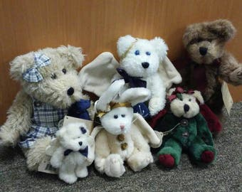 Boyds Bear jointed bear & bunny rabbit collection - Galaxy, Arinna, Flit Angelwish, original tags