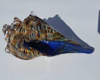 Glass Sea Shell - Hand Blown - Free Shipping - stock# es04