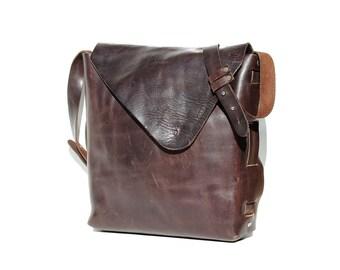 Brown Oil Tanned Leather Handcrafted Saddle shoulder Bag