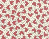 Fabric Sale! First Crush - Heart Print Fabric