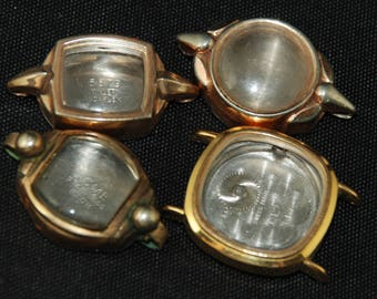 Vintage Antique Steampunk Watch Cases Altered Art Industrial YZ 1