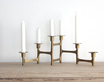 Brass Folding Candelabra Candle Holder