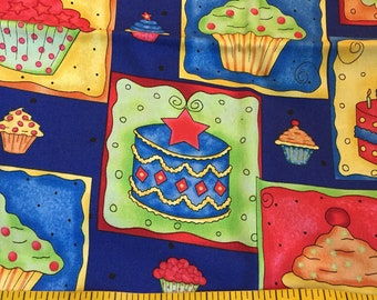One Yard of Birthday Cupcakes Fabric