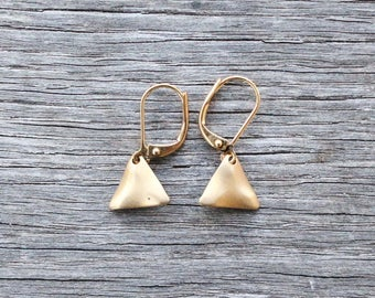 Golden Triangle Earrings | Dangle Earrings | Modern Jewelry | Mothers Day Gifts