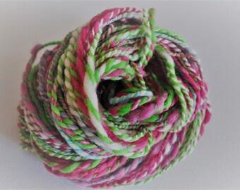 Sweet Pea. Handspun Merino Art Yarn 2 ply