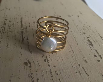 Coil Button Peal ( Adjustable Ring)
