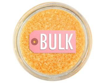 Sun Yellow Sanding Sugar BULK (1lb) - golden yellow sprinkles for decorating cupcakes, cakes, cakepops, and cookies