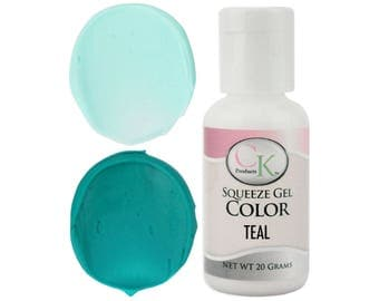 Teal CK Gel Paste Food Coloring - high quality food coloring for icing, frosting, cookie dough and more