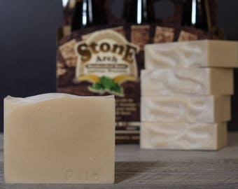 Marquette Pilsner Soap | Natural  Soap | Unscented Uncolored | Beer Soap | Stone Arch Beer | Gifts for Men | Fatty's Soap Co.