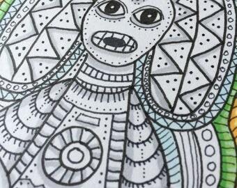Moon Goddess Atabey - Original Artwork