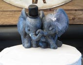 Sweet Elephant Wedding Cake Topper