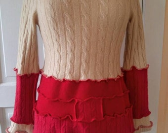 Cashmere Pullover Sweater  - Eco Friendly Couture - Size Medium