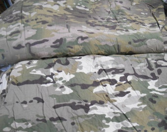 "Poorly dyed Army multicam camo camouflage pattern heavy cotton poly fabric 1 yd x 62"" wide"