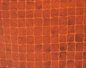 Vintage haori S442,  brown orange