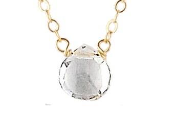Single-Stone Crystal Quartz Necklace