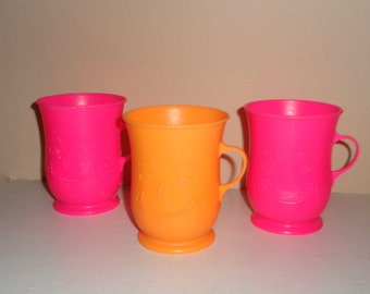 3 Collectible Advertising Kool Aid Plastic Cups