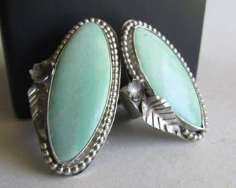 Variscite Statement Ring - Size 8 - Utah Variscite Jewelry - Statement Jewelry