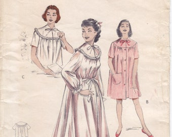 Vintage Pattern Butterick 6997 Peignoir, Short Night-Gown, and Bedjacket 50s Size 20 B38