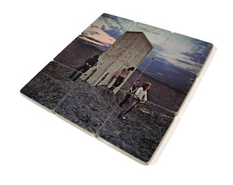 The Who handmade wood coasters and vinyl bowl created from recycled Who's Next record album
